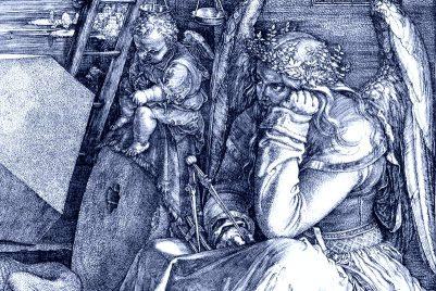 Ausschnitt aus Albrecht Dürers 'Melencolia I'