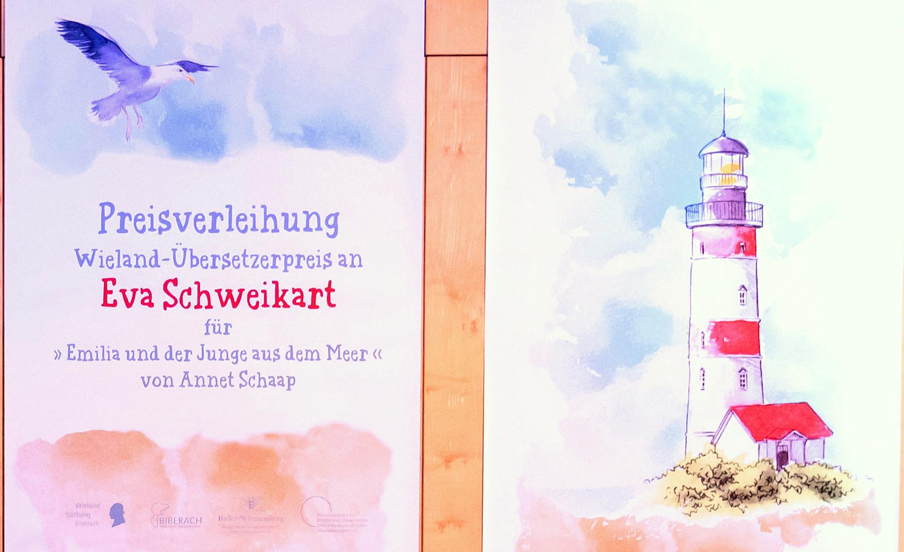 Wieland Stiftung Biberach, Eva Schweikart erhält den Christoph Martin Wieland-Übersetzerpreis 7. November 2019