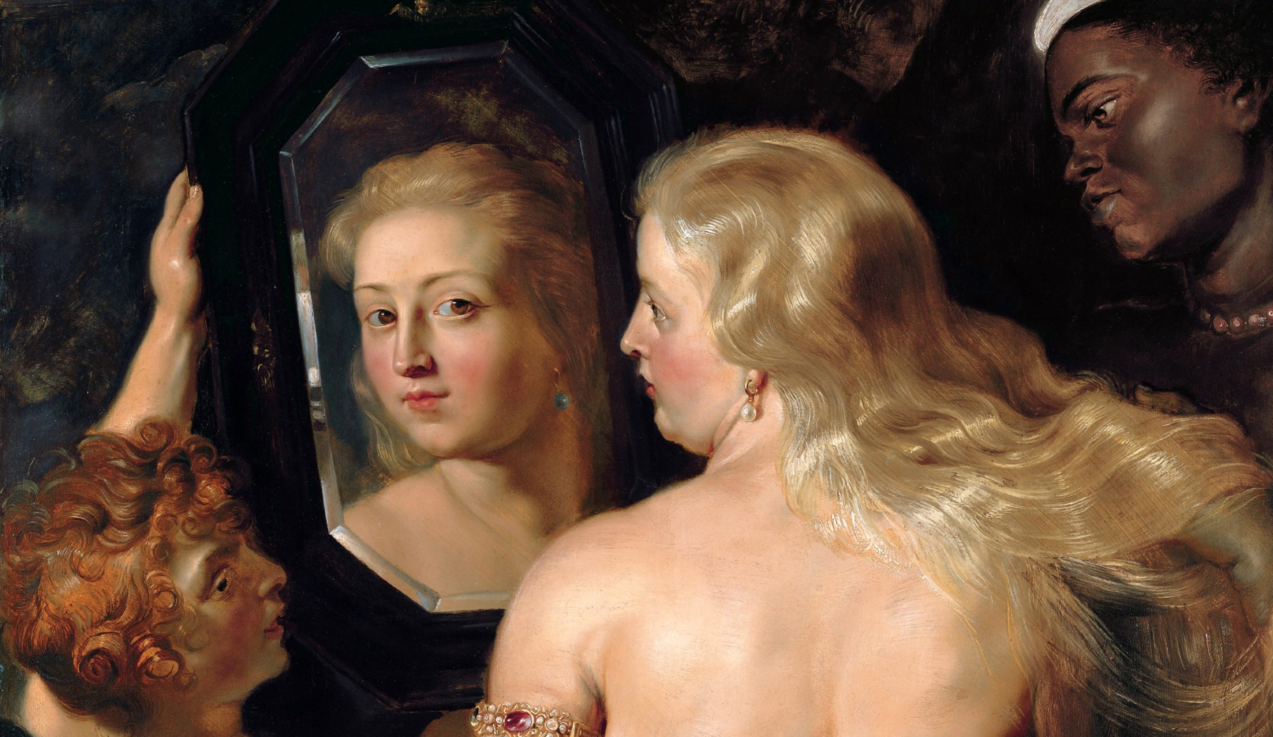 Venus in front of the mirror*oil on panel*123 x 98 cm*1614 - 1615